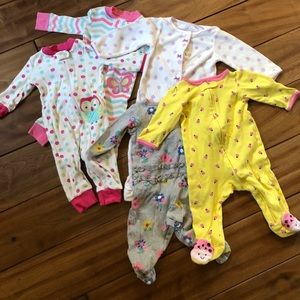 Other - Bundle of 5 size 9 months pajamas